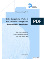 On the Compatibility of VaR, Other Risk Concepts and EUT
