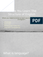Structure of English What You Need to Know