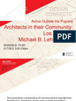 Architect's in their Community - AIA National Convention 2012