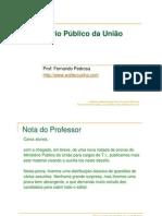 Ministerio Publico Da Uniao 2007 Fernando Pedrosa Amostra