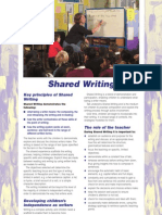 Early Literacy Support - Shared Writing