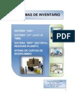 Investigación Operativa - ABC, JIT, MRP Y CURVAS