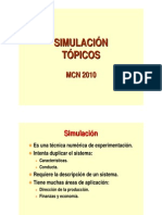 TÓPICOS DE SIMULACIÓN