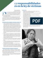 Entidades y Responsabilidades Territoriales en La Ley de Victimas