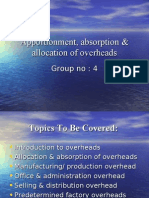 Apportionment, Absorption & Allocation of Overheads