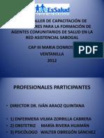 Formacion de Agentes Comunitarios 2012
