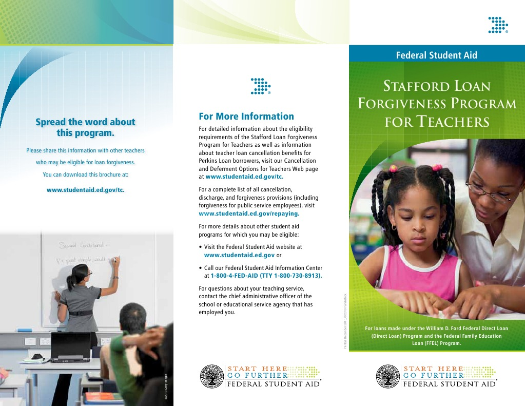 Teacher Loan Forgiveness Student Financial Aid In The United