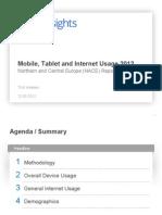 Mobile Tablet Iinternet Usage 2012