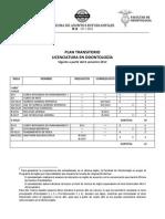 Plan de Estudios Transitorio Vigente