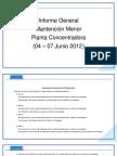 Informe Mantención Menor Junio 2012