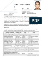 Resume Rohit Goyal