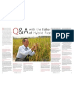 RT Vol. 11, No. 3 Q&A with the Father of Hybrid Rice