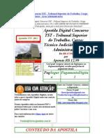 Apostila Digital Concurso TST - Tribunal Superior do Trabalho Cargo Técnico Judiciário Área Administrativa 2012 edital concurso frete grátis download