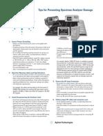 Tips for Preventing Spectrum Analyzer Damage 5963 2969