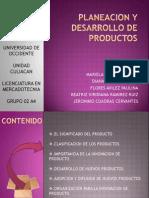 Planeacion y Desarrollo de Productos