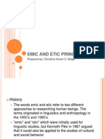 Emic and Etic Principle
