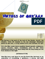 Virtues of Quraan