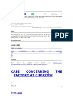 Chorzow Factory Case Digest