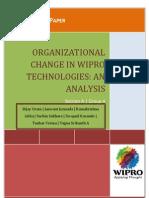 OCD_Organizational Change in Wipro_Group 4