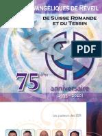 Brochure du 75ème anniversaire des Eglises Evangéliques de Réveil