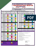 Jadwal Pelajaran 2012/2013 Semester ganjil SMK Kesehatan Widya Tanjungpinang