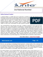 Define Rational Number