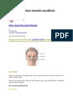 Posts Tagged Obat Sinusitis Maxillaris