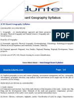 ICSE Board Geography Syllabus