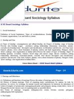 ICSE Board Sociology Syllabus