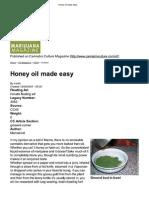 Cannabis Oil - Honey Oil Made Easy