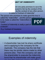 Indemnity and Guaranty.