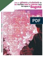 violencia basdas en género y ciudadania. abordajes sobre violencia en Bogotá