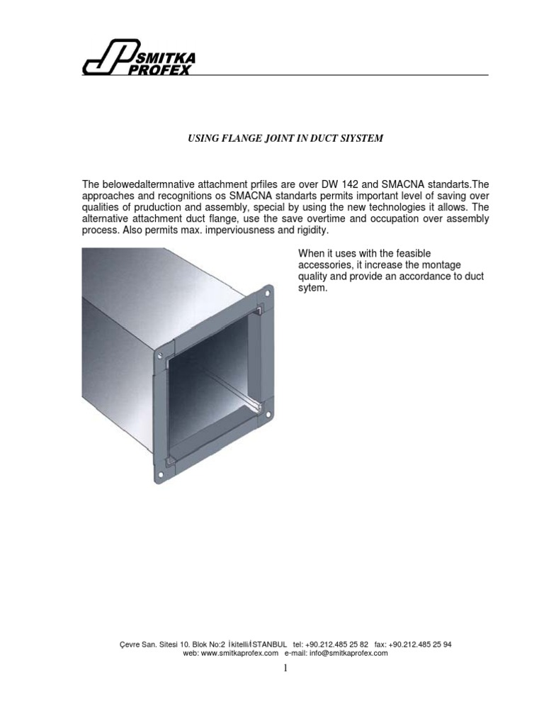 Using Flange Joint in Duct Siystem | Pressure Measurement | Pressure