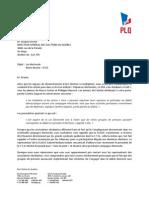Lettre du PLQ au Directeur général des élections du Québec