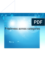 Freshness Across Categories