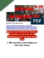 Noticias Uruguayas miércoles 18 de julio del 2012