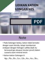 Ppt Penyelidikan Kation Golongan II H2S Key Point
