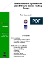 Ground Source Heat Pumps installation within Permeable Pavement Systems for wastewater quality assessment