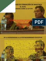 Reformas Educativas Postmodernistas. Ley 070