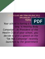 SPEECH Extra Class 30 Mei 2012