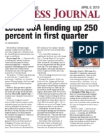 Local SBA Lending up 250 Percent in First Quarter