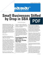 Small Businesses Stifled by Drop in Sba Loans