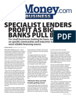 Specialist Lenders Profit as Big Banks Pull Back