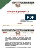 BARRERA SIDOR Contribución del Ferrovanadio a la soberanía productiva de Venezuela