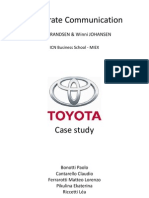 Toyota Corporate Communication Case
