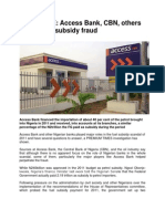 Access Bank, CBN, Others Culpable in Subsidy Fraud