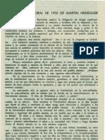 Heidegger M - El Discurso Rectoral 1933