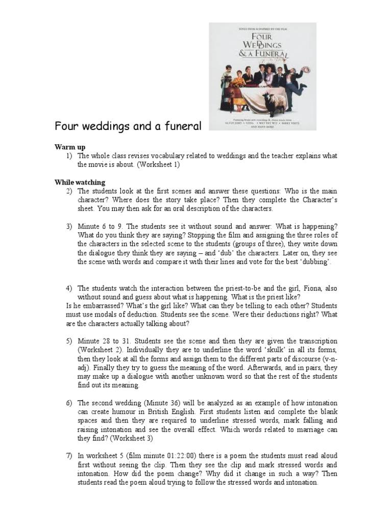 teacher four weddings wedding bride