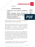 Neckermann Stellt Insolvenzantrag (MarketingAgenturHamburg.de)