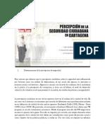 Determinantes de la percepción de seguridad Cartagena